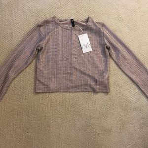 ZARA metallic sweater
